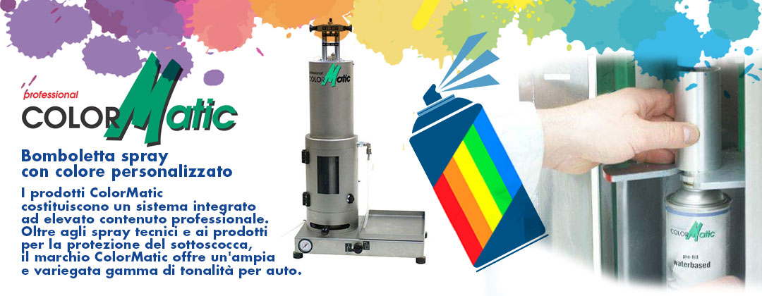 con il nuovo metodo ColorMatic puoi personalizzare il colore della bomboletta per ogni tua esigenza.
